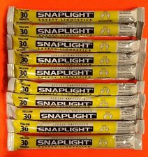 Lot of 10 Yellow Cyalume Lightsticks Emergency Survival Prepper Bug Out Bags