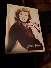 Postcard Of Movie Star Katherine Hepburn