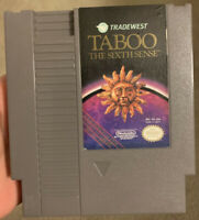 Taboo: The Sixth Sense Nintendo Entertainment System NES ~ Tested & Authentic