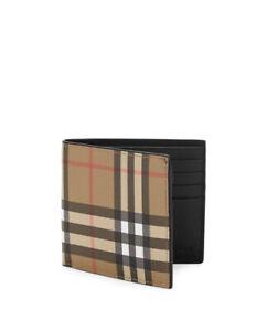 Authentic Burberry Haymarket Camel/Black Plaid Bi-Fold Wallet