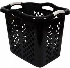 Laundry Hamper Clothes Basket Wide Tall Bin Storage Handles Home Logic Black