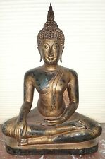 Very Fine Large Thai Ayutthaya Seated Bronze Buddha Shakyamuni. 17th18thc. 28 ½
