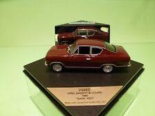 VITESSE V096D OPEL KADETT B COUPE 1966 - DARK RED 1:43 - GOOD IN BOX