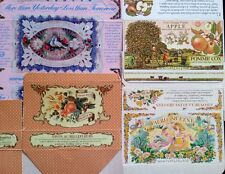 LOT of 4 CRABTREE EVELYN London SOAP BOXES Decorative Spa Bath FAIRY FRUIT HEART