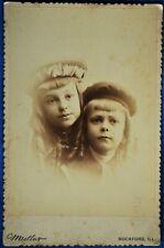 New listing Cabinet Photo Children Name Lillian Louis Lindlof Medlar Rockford Illinois 1890s