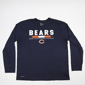 Chicago Bears Nike Nike Tee Long Sleeve Shirt Men's Navy Used