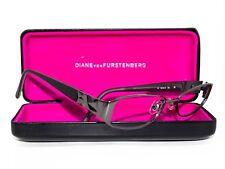 Diane Von Furstenberg Women's Eyeglasses DVF 8005 Gunmetal Black Frame 50[]15