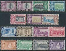 1953-1962 MONTSERRAT DEFINITIVES SELECTION OF 15 FINE MINT MNH SG136a-148a ex24c