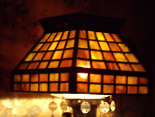 ANTIQUE BRADLEY & HUBBARD ARTS AND CRAFTS KEROSENE STUDENT LAMP SLAG GLASS SHADE