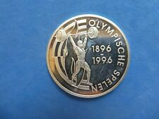 Niederländische Antillen, 25 Gulden, Olympische Spiele, 1996, Silber, original