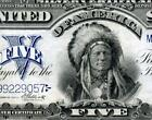 HGR SUNDAY 1899 $5 Indian Chief ((GORGEOUS example)) VERY HIGH GRADE
