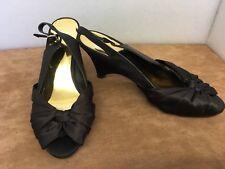 Monsoon Chocolate Brown Peep Toe Sling Back Wedge Sandals - Size 4 (37)