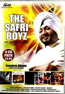 THE SAFRI BOYZ - THE GREATEST ALBUM 4 CD PACK - Punjabi Bhangra Sealed UK CDs