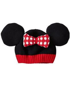 Girls Hanna Andersson Disney Classic Hat Minnie Mouse Black Yarn w/Ears Sm/1-3Y