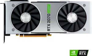 NVIDIA GeForce RTX 2070S Super Founder Edition 8 GBGDDR6 PCI-E Graphics Card