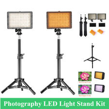 2x Photography LED Studio Video Light Panel Stand Camera Camcorder Photo Kit