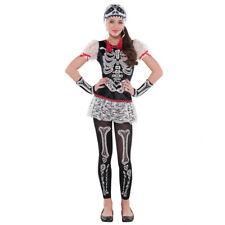 Teens Sassy Skeleton Halloween Fancy Dress Costume - Age 14-16 Years