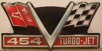 Chevrolet Corvette 454 Turbo-Jet Embossed Metal Sign Garage Mancave Flags V8