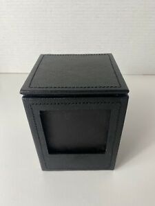 Pottery Barn Colby leather Storage/ Photo Box 3 Sides 3x3 photos