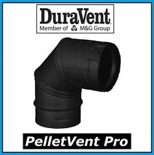 "DURAVENT PELLETVENT PRO Pipe 3"" Diameter 90 Degree Black Elbow #3PVP-E90B NEW!"