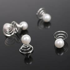 12pcs Bridal Crystal Pearl Spiral Twist Hair Pins Wedding Hair Accessories cbg