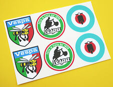 VESPA SCOOTER MoD Target, Italian round and 'Angry Wasp' stickers decals set