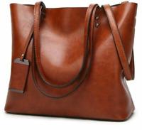 Women Leather Handbag Shoulder Bag Genuine Cowhide Tote Bags Crossbody Bag Large