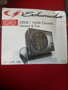 Schumacher 12V (235W/150W) Ceramic Heater and Fan provides instant heat 1224