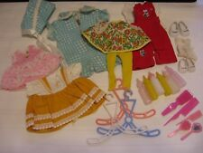 lot of 30 Vtg Assorted Doll Clothes Baby Bottles Shoes Socks Accessories (N24)