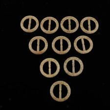 10x Round Buckle Button Waistband T-shirt Corner Clasp Clothing Decor Gold