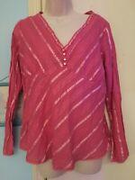 Women's Liz Lange Maternity Rose Empire Waist Long Sleeve Blouse in Size Large