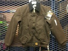 Carhartt Mens Small Dark Brown Santa Fe Jacket J14DKB Quilted Flannel Lined NWT