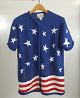 The Quacker Factory Womens Sweater Red White Blue Star Flag Patriotic Cardigan S