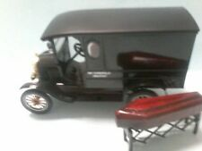 MODIFIED MOTOR MAX 1925 FORD T WAGON  HEARSE  with Church truck & coffin BOXED