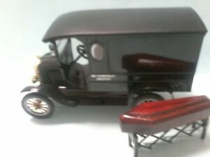 MODIFIED MOTOR MAX 1925 FORD model T  HEARSE  boxed with Church truck & coffin