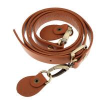 Adjustable Leather Crossbody Shoulder Bag Purse Strap Replacement Brown