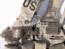 Loaded US Army MOLLE II Desert Tan Fighting Vest FLC LBV 6 Double Pouch 2 K Bar