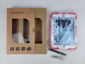 Aceguarder- Pink White Heavy Duty iPad Mini 1,2,3 Protective Premium Case NEW