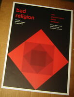 BAD RELIGION ROCK CONCERT POSTER SWISS PUNK GRAPHIC POP ART MELODY LONG BEACH CA