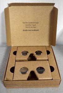 Set of 2 Genuine GOOGLE Cardboard VR Virtual Reality Viewer P/N 17003196-01