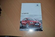 CATALOGUE Volkswagen Golf GTi de 2006 Suisse