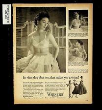 1954 Warner Women's Underwear Bra Girdle Vintage Print Ad 17233