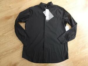 TEATORA mens black long sleeve keyboard shirt MEDIUM BNWT NEW
