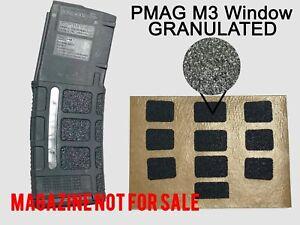 Granulated GUN GRIP For PMAG 30 GEN M3 Window Full Coverage Magpul
