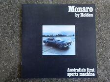 HOLDEN 1968 HK GTS MONARO SALES BROCHURE. 100% GUARANTEE