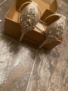 satin bridal heels 5 Chi Chi London Prom White Ivory