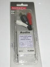 ALTAI PHONO LEAD, 5-pin DIN plug / 2 RCA Phono sockets, 0.23m.