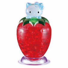 DIY 3D Crystal Puzzle Jigsaw 45 pcs Kid Toy Model Decoration - Hello Kitty Straw
