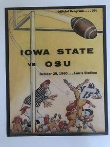 "1960 IOWA STATE CYCLONES vs OSU Cowboys 11""x14"" Football Program Poster 10/29/60"