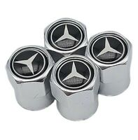 4 Ventilkappen Mercedes Benz, Chrom, Performance, Tuning, Ventile Autoreifen